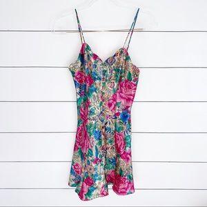 Victoria's Secret Vintage 90s Floral Slip Dress